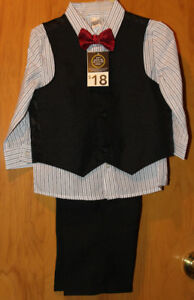 Toddler Boy 4 Piece Suit Set Size 18-24M - New With Tags