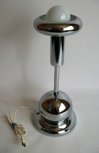 Lampe de Table Vintage - Vintage Chrome Table Lamp