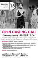 Model Casting Call | Runway For Hope Ottawa in Support of CHEO