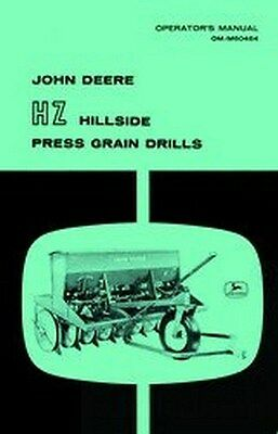 John Deere Hz Hillside Grain Drill Operators Manual