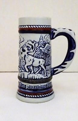 Vintage 1983 AVON Alaskan Moose & Wildlife Mini Beer Stein Handcrafted in Brazil