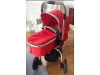 Red Mothercare Orb Pushchair and Pram