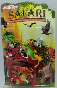 Safari Play Set Jungle Animal Toy Children Youth Pieces Kids Zoo