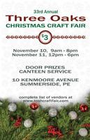 Three Oaks Christmas Craft Fair 2018