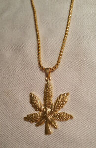 Gold-filled 24 inch chain Weed Pot Pendant