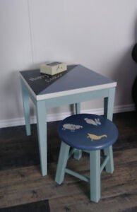 Child's Table and Stool