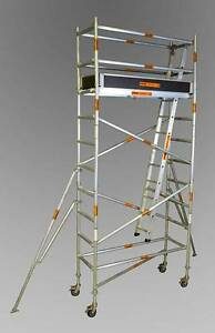 0.7 X 2.0 X 3.4 ALUMINIUM MOBILE SCAFFOLD Revesby Bankstown Area Preview