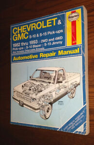 Repair Manual for Chevy S-10 and GMC Blazer 1982 to 1993