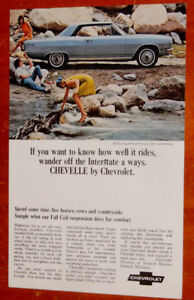 1965 CHEVELLE SS VINTAGE CLASSIC CAR AD - ANONCE CHEVROLET
