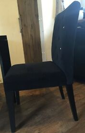Dining Table (black gloss) and 8 Chairs (from Next)