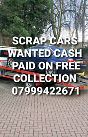 SCRAP CARS VANS CASH PAID