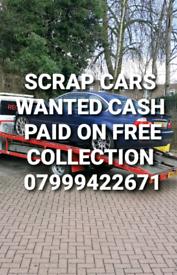 SCRAP CARS VANS CASH PAID