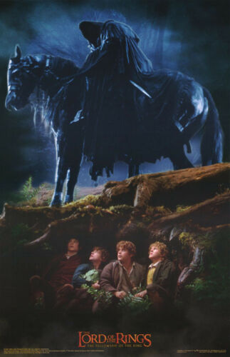 POSTER :MOVIE REPRO: LORD OF THE RINGS - HOBBITS & RINGWRAITHS   #3527  RP81 K