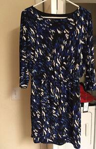 Designer Nine West Black&Blue Dress Size 6- Never Worn// Robe
