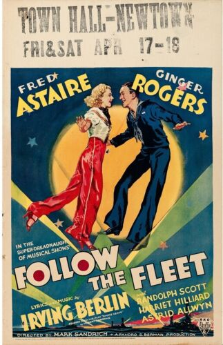 Follow the Fleet Original Movie Poster 1936 Astaire Rogers   *Hollywood Posters*