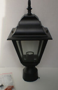 OUTDOOR POST LANTERN, NEW IN BOX.
