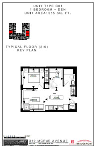 315 McRae - 1 Bedroom + Den Available August and September 1st!!