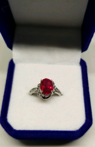 14k white gold Ruby Ring