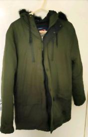 Men Tokyo Laundry Khaki Coat (Small)