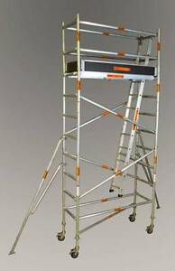 Synergy Scaffolding Aluminium – Dimensions: 0.7 X 2.0 X 3.4 Revesby Bankstown Area Preview