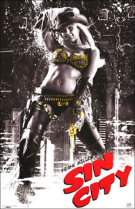 Sin City Movie Poster on Plak Mounting