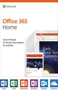 Microsoft Office 365 Home | 12-mnth subscription, up to 6 people