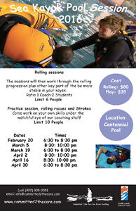 Sea Kayak Pool Sessions - 2016 Call For Details