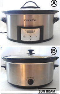 Stainless Steel! 2 Large Slow Cookers, 6.5Q