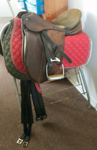 Schooling condition Passier 17inch Dressage saddle