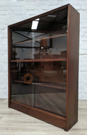 Mid Century Glazed Bookcase (DELIVERY AVAILABLE)
