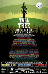 2 Tall Tree tickets with early access camping