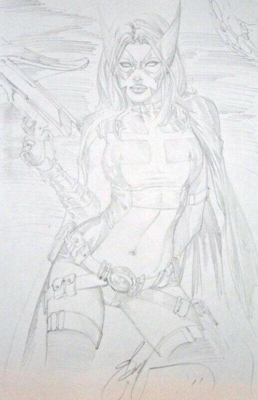 """Eric """"eBas"""" Basaldua original Huntress 11x17"""