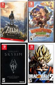 Nintendo Switch NEUFS SCELLÉS: Zelda, Donkey K, Skyrim, DBZ...
