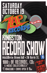VINYL IS  BACK! KINGSTON RECORD SHOW SATURDAY OCTOBER 19TH!!