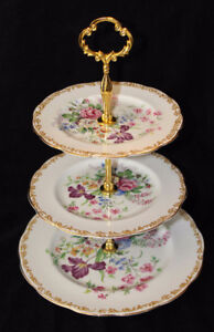 ROYAL ALBERT TIERED CAKE STAND - NOSEGAY