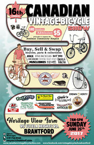 CANADIAN VINTAGE BICYCLE SHOW... This Sunday eh !