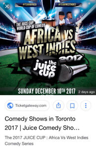 The 2 tickets - mid row - JUICE Cup: Africa Vs West Indies