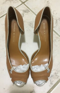 Brand New Heels. Charles and Keith camel colour heels.
