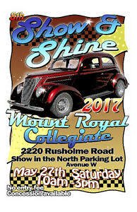 Mount Royal Show and Shine: Saturday May 27. 10am-3pm