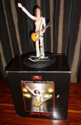 Jimmy Page Knucklebonz Figure Statue Rock Iconz 2007 Led Zeppelin   ( No bow )