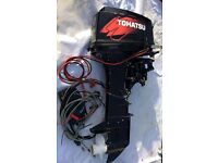 Outboard Tohatsu 30 hp long shaft electric start. FULL SERVICE