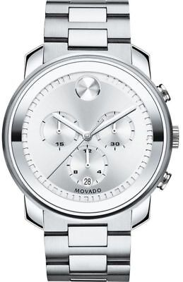 Movado Men's  Analog Display Swiss Quartz Silver Watch (3600276)