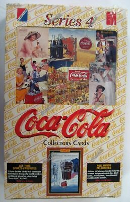 Coca Cola Factory Sealed Box of Series 4 Collection Cards w 36 Packs - NEW 1995