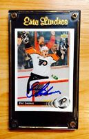 Eric Lindros autographed Flyers card & Frame