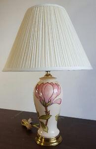 MOORCROFT LAMP PINK MAGNOLIA