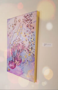 Local Artist- Jelly Fish- Under the Sea - Original Painting