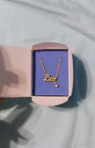 Giftable! Gold plated Leo Necklace with cubic zirconia