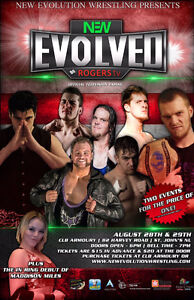 2 Tickets for Evolved Wrestling Event August 29th