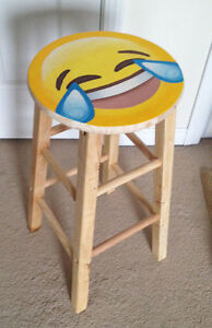 Emoji Tears of Joy Stool