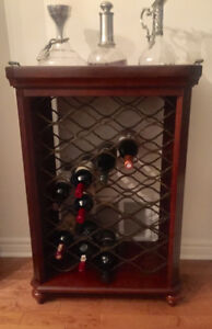 Bombay Company Mahogany and Brass Wine Cabinet
